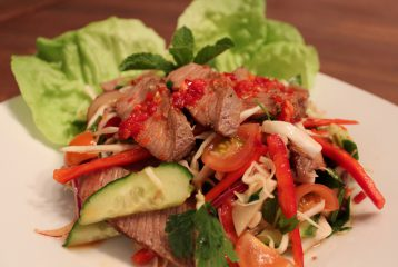 Gegrilde rundvlees salade