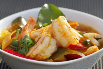 Menu 1_1 Kruidige Thaise garnalensoep