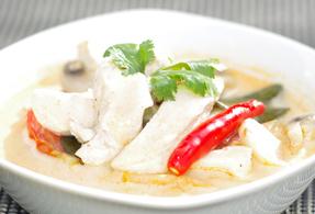 Romige Thaise kippensoep 287x195